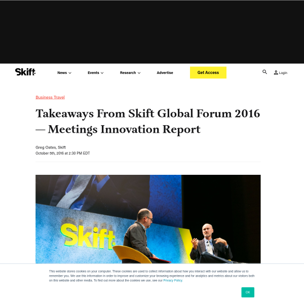 Takeaways From Skift Global Forum 2016 — Meetings Innovation Report