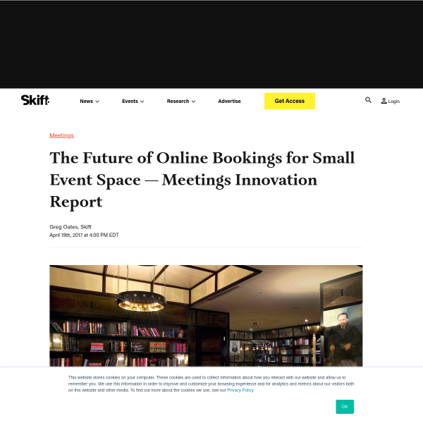The Future of Online Bookings for Small Event Space — Meetings Innovation Report