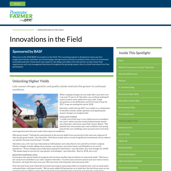 Innovations in the Field
