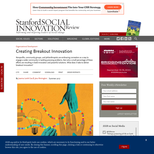 Creating Breakout Innovation (SSIR)
