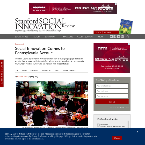 Social Innovation Comes to Pennsylvania Avenue (SSIR)