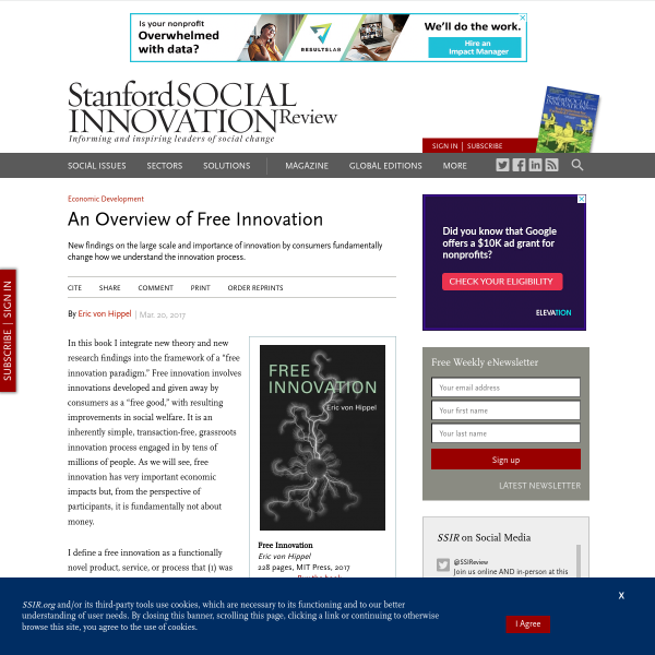 An Overview of Free Innovation (SSIR)