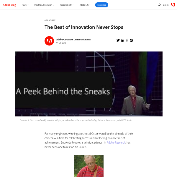 The Beat of Innovation Never Stops - Adobe Blog
