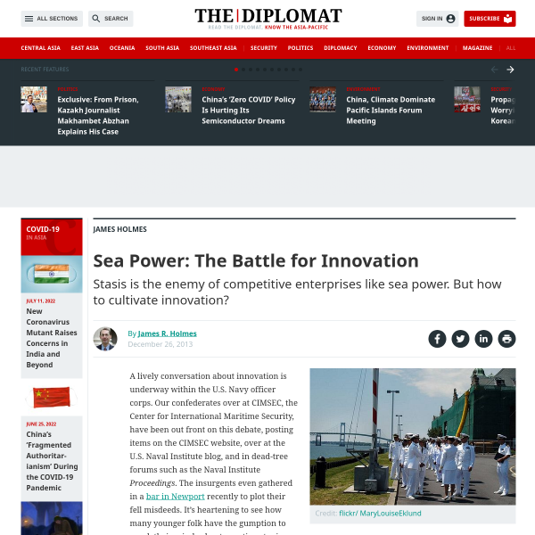 Sea Power: The Battle for Innovation