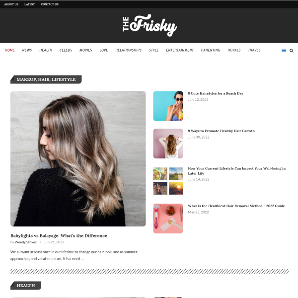 The Frisky - Popular Web Magazine screenshot