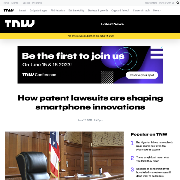 How patent lawsuits are shaping smartphone innovations - Industry