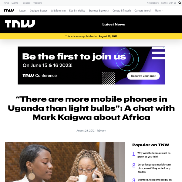 A Chat with Mark Kaigwa About Tech and Innovation in Africa
