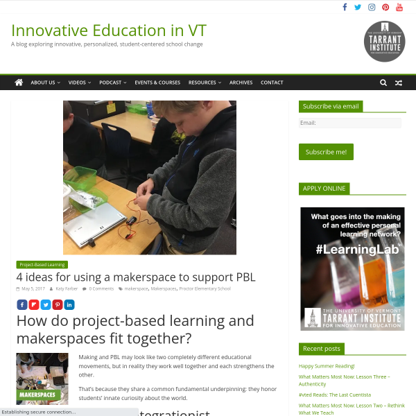 4 ideas for using a makerspace to support PBL - Innovation: Education