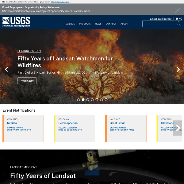 USGS gov | Science for a changing world - Free Content Promotion