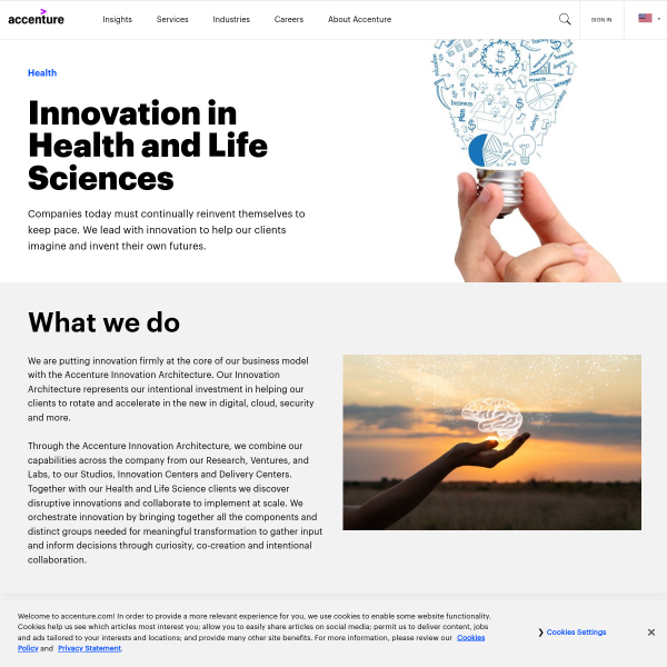 Innovation in Health and Life Sciences - Accenture