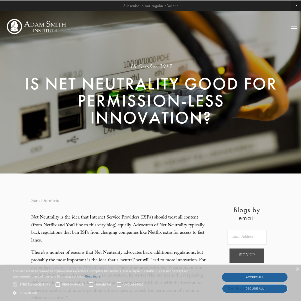 Is Net Neutrality good for permission-less innovation?