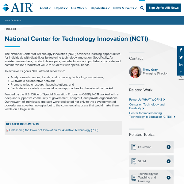 National Center for Technology Innovation (NCTI)