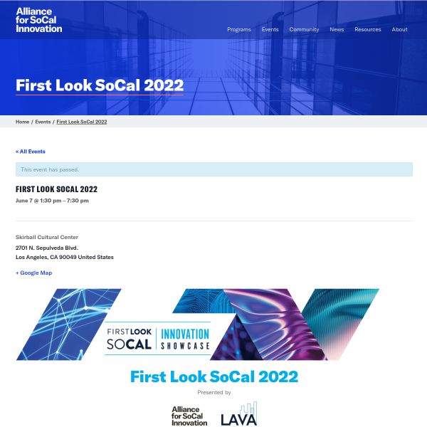 SoCal First Look Showcase - Alliance for SoCal Innovation