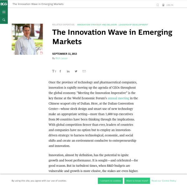 The Innovation Wave in Emerging Markets