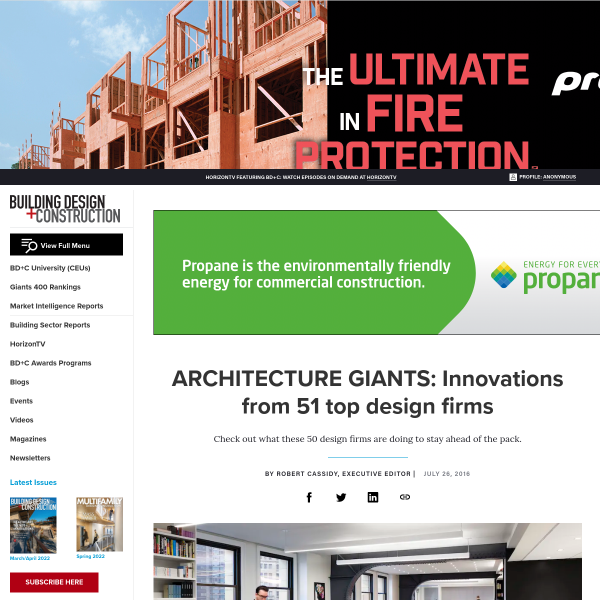 ARCHITECTURE GIANTS: Innovations from 51 top design firms