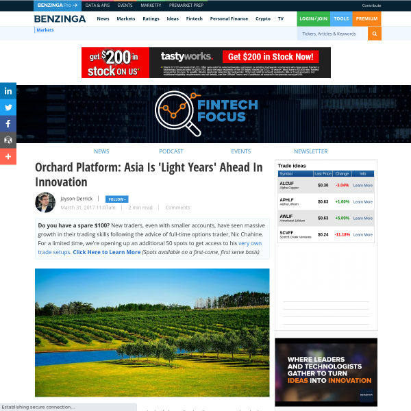 Orchard Platform: Asia Is 'Light Years' Ahead In Innovation