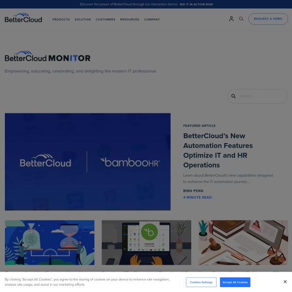BetterCloud Monitor - IT News, Trends, Tech, & Innovation