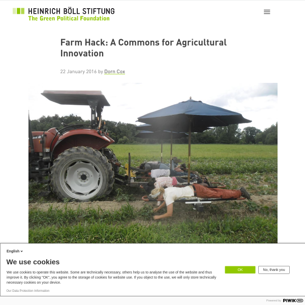 Farm Hack: A Commons for Agricultural Innovation - Heinrich Böll Foundation