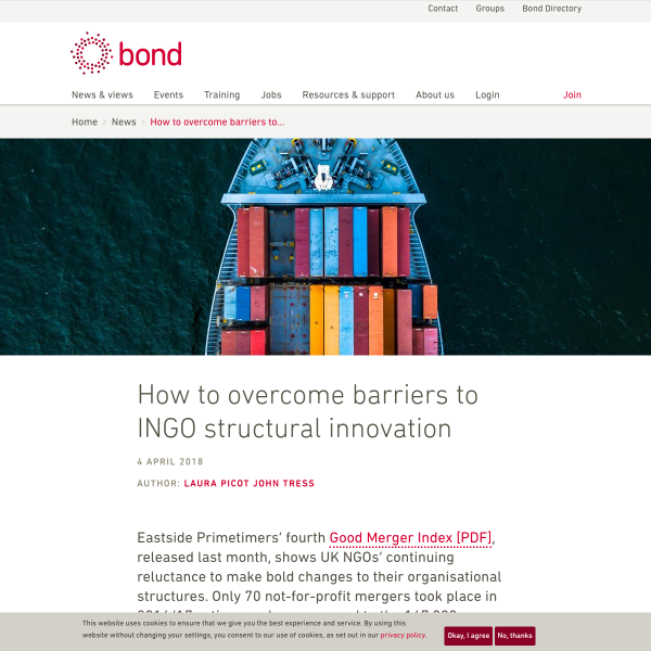 How to overcome barriers to INGO structural innovation