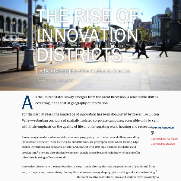 The Rise of Innovation Districts