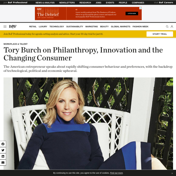 Tory Burch on Philanthropy, Innovation and the Changing Consumer