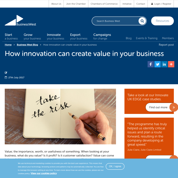 How innovation can create value in your business