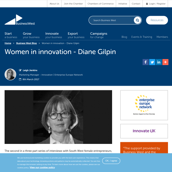 Women in innovation - Diane Gilpin