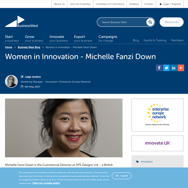 Women in Innovation - Michelle Fanzi Down