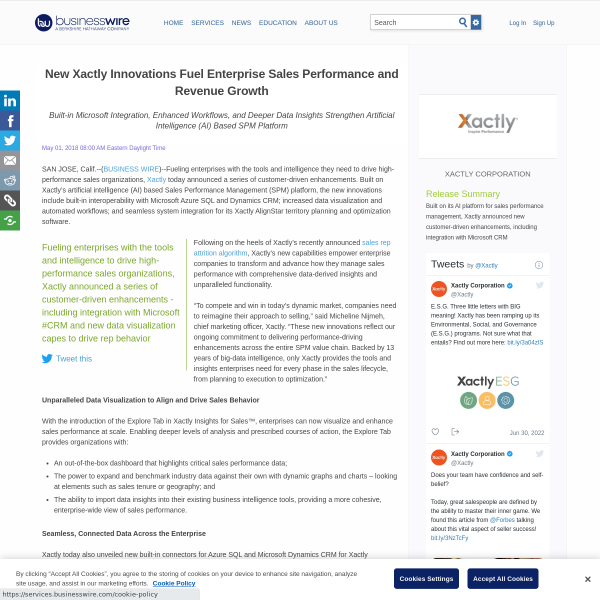 New Xactly Innovations Fuel Enterprise Sales Performance and Revenue Growth