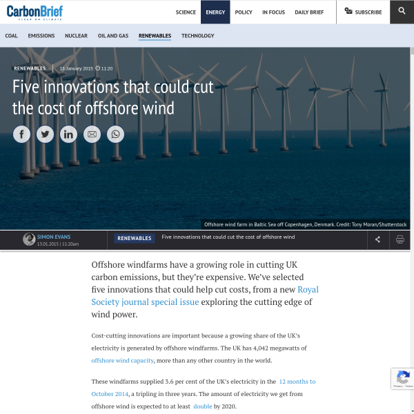 Five innovations that could cut the cost of offshore wind - Carbon Brief