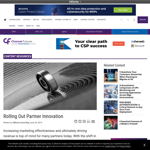 Rolling Out Partner Innovation
