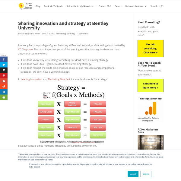 Sharing innovation and strategy at Bentley University - Christopher S. Penn Marketing Blog