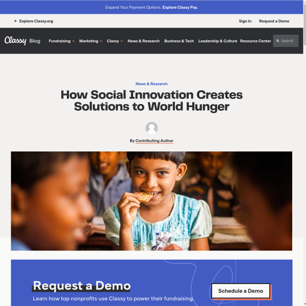 How Social Innovation Creates Solutions to World Hunger