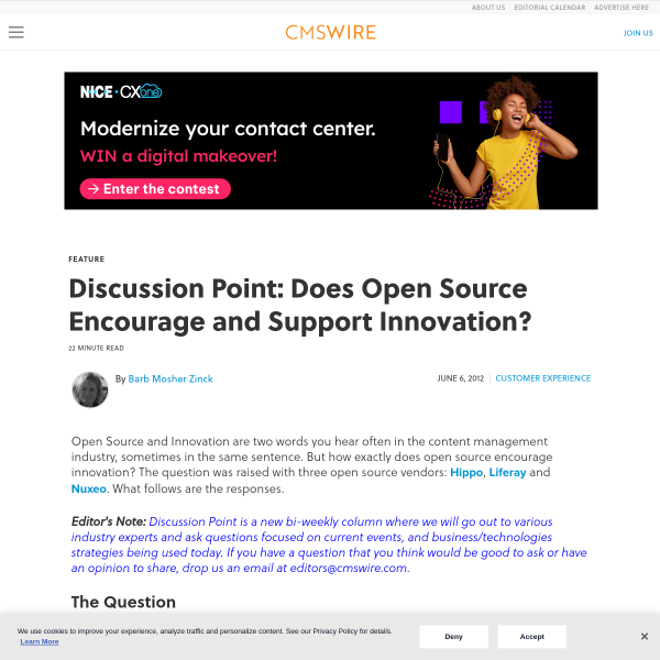 Discussion Point: Does Open Source Encourage and Support Innovation?