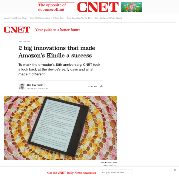 Two big innovations that made Amazon's Kindle a success