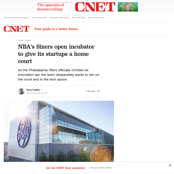 Philadelphia 76ers' christen innovation lab for its startups