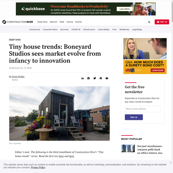 Tiny house trends: Boneyard Studios sees market evolve from infancy to innovation