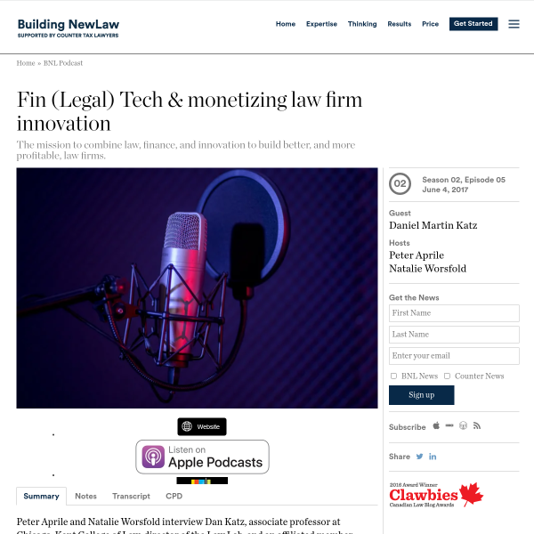 Fin (Legal) Tech & monetizing law firm innovation