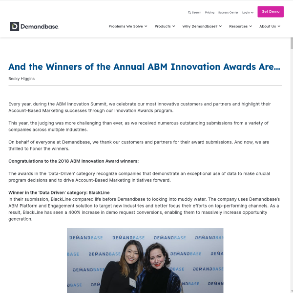 And the Winners of the Annual ABM Innovation Awards Are… - Account-Based Marketing – Demandbase