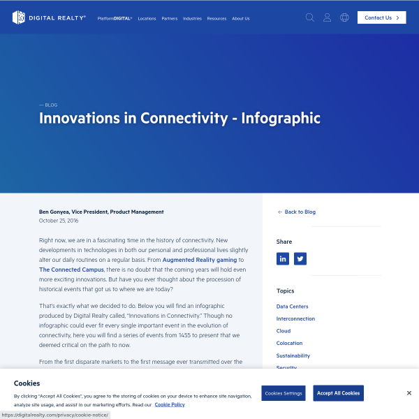 Innovations in Connectivity (Infographic) - Blog - Digital Realty