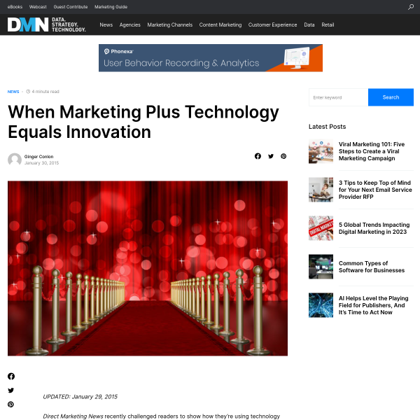 When Marketing Plus Technology Equals Innovation
