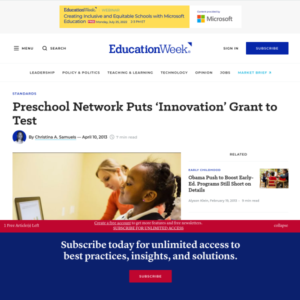 Preschool Network Puts 'Innovation' Grant to Test