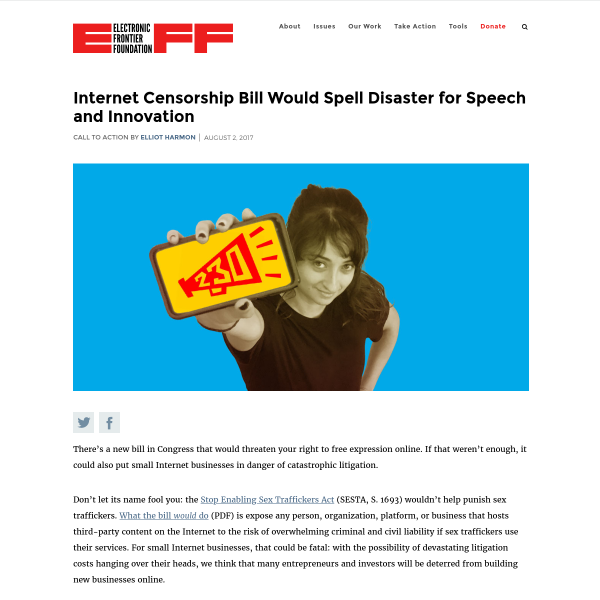 Internet Censorship Bill Would Spell Disaster for Speech and Innovation