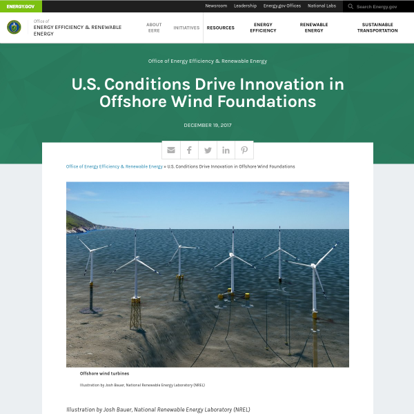 U.S. Conditions Drive Innovation in Offshore Wind Foundations