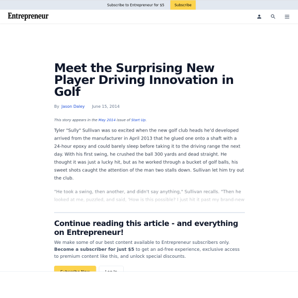 Meet the Surprising New Player Driving Innovation in Golf