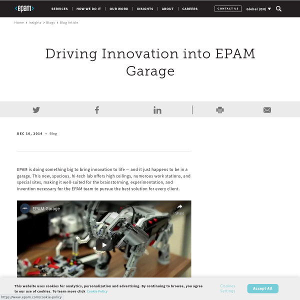Driving Innovation into EPAM Garage