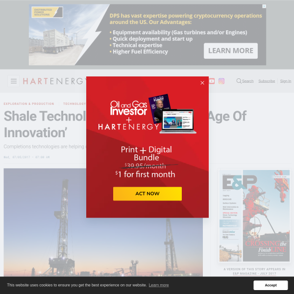 Shale Technology Showcase: Oil's 'Age Of Innovation'