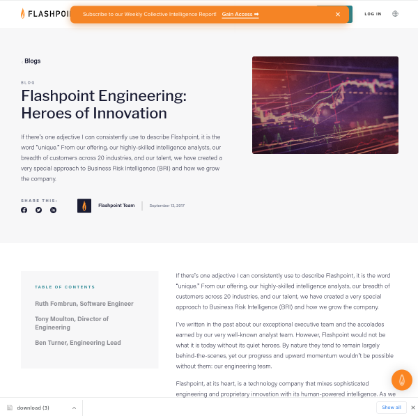 Flashpoint - Flashpoint Engineering: Heroes of Innovation