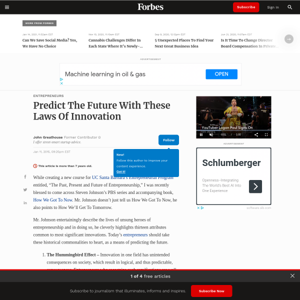 Predict The Future With These Laws Of Innovation
