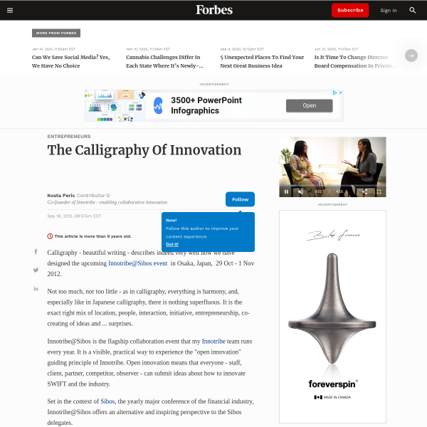 The Calligraphy Of Innovation